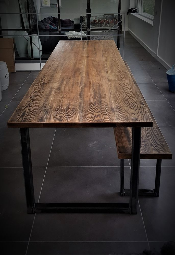Long Dining Table And Bench With, Extra Long Dining Room Table Bench