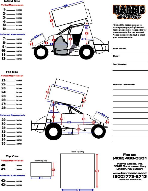 Sprint Car Template Wrap Harris Decals Movies In Theaters