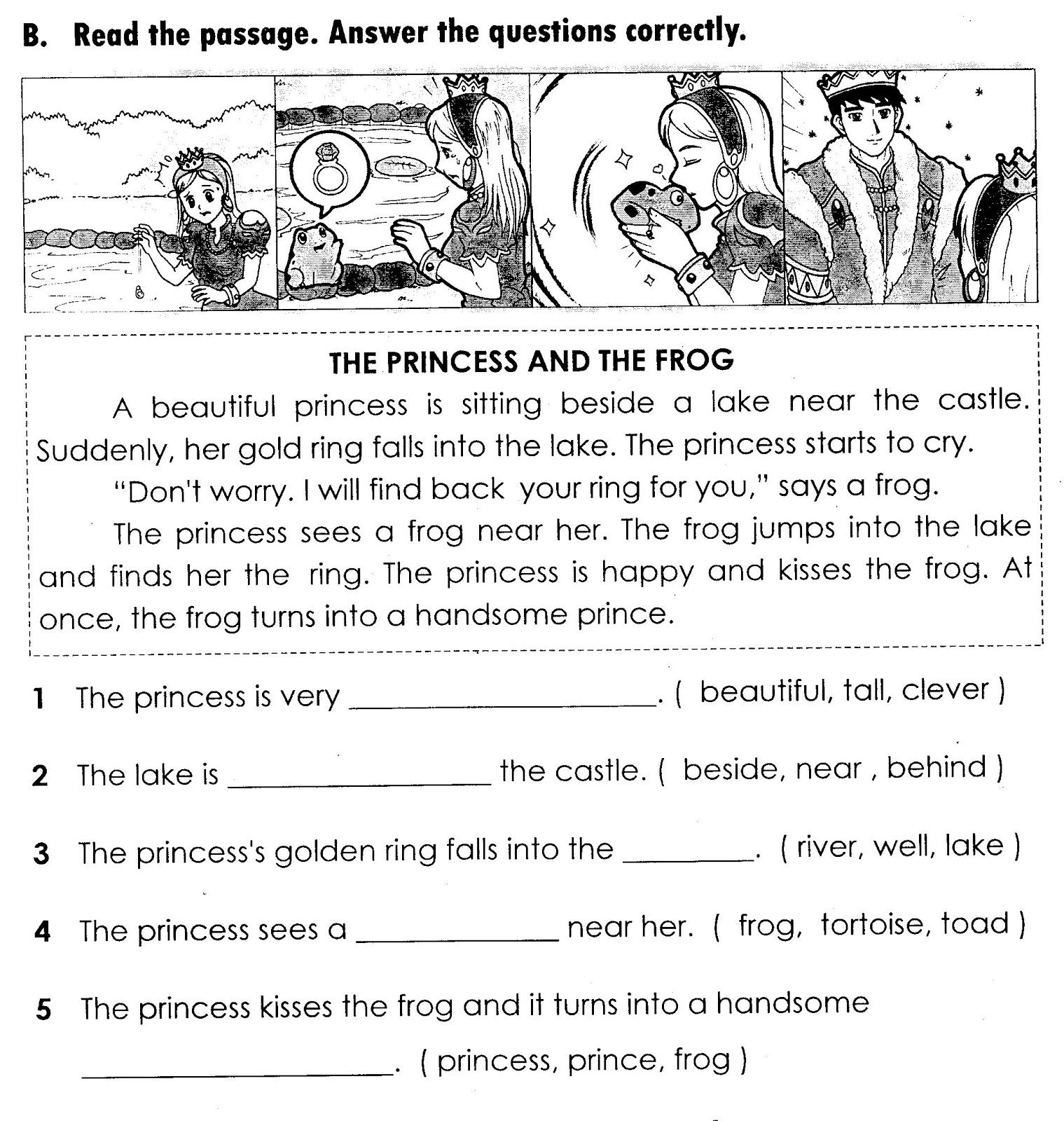 Grade 4 English Worksheet Cambridge