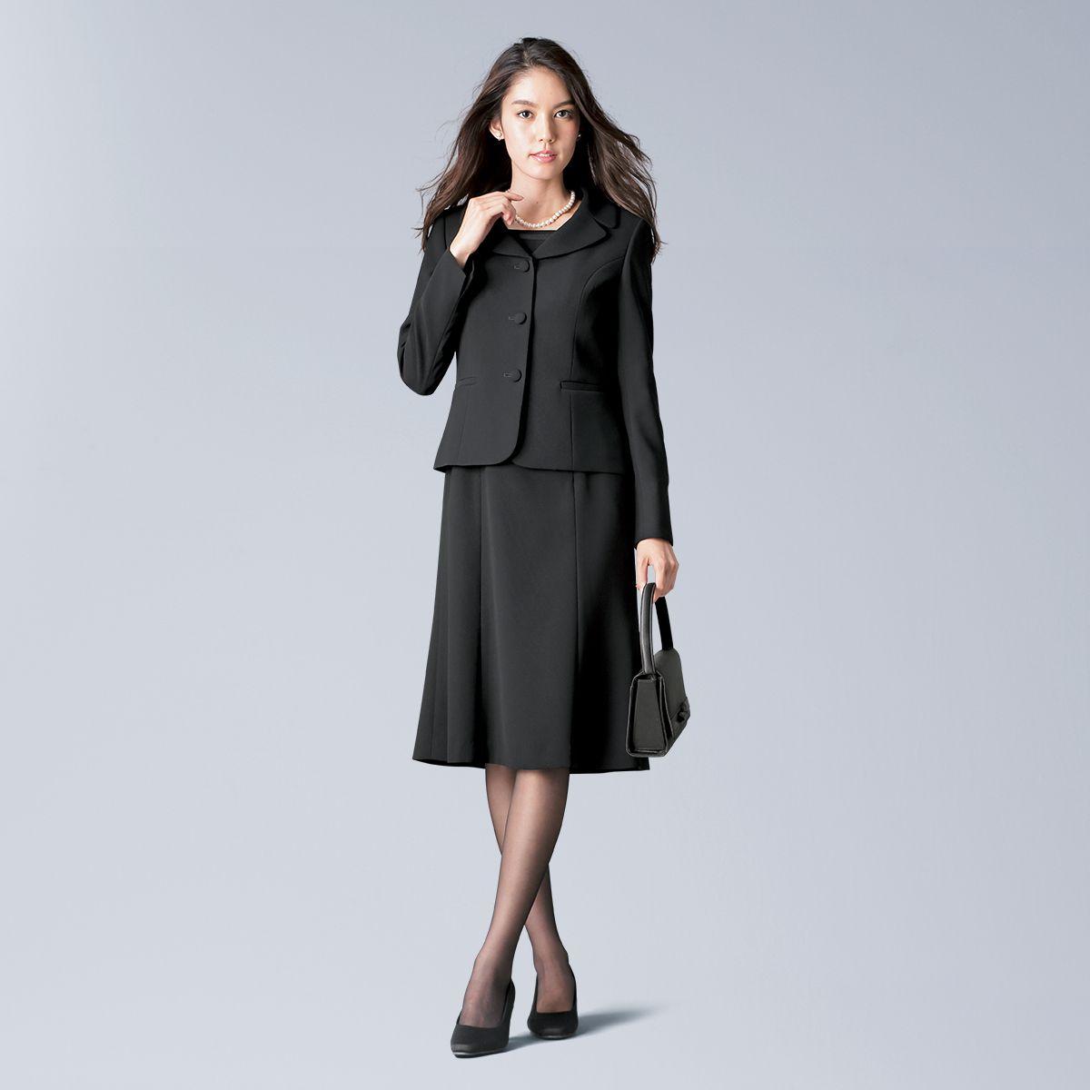 954879c23387f 日本製生地テーラードジャケットアンサンブル(胸当て付ジャケット+5分袖ワンピース) 通販