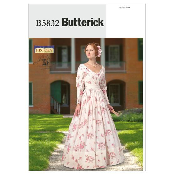 Butterick Misses Historical Costumes-B5832 #dressesfromthesouthernbelleera