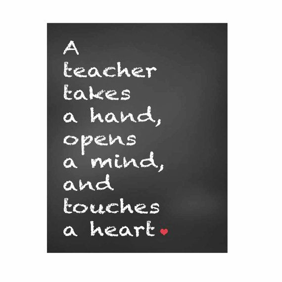 Welcome Quotes For Teachers Day: Gift For Teachers, Teachers Gift, Chalkboard Print