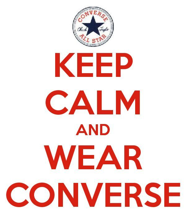 4c12c849eb9e KEEP CALM and WEAR CONVERSE elfsacks  funny sports shoes