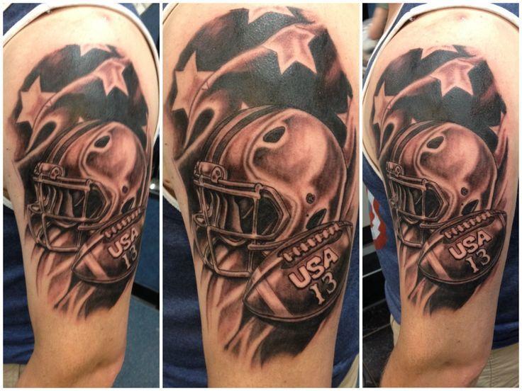 American Football Tattoos Great fan football tattoos ⋆ free tattoo ...