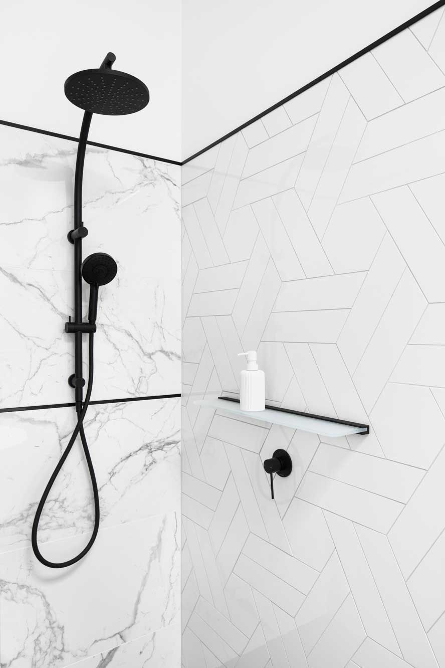 Photo of 10 more bathrooms with incredible tiles – cobalt + gold