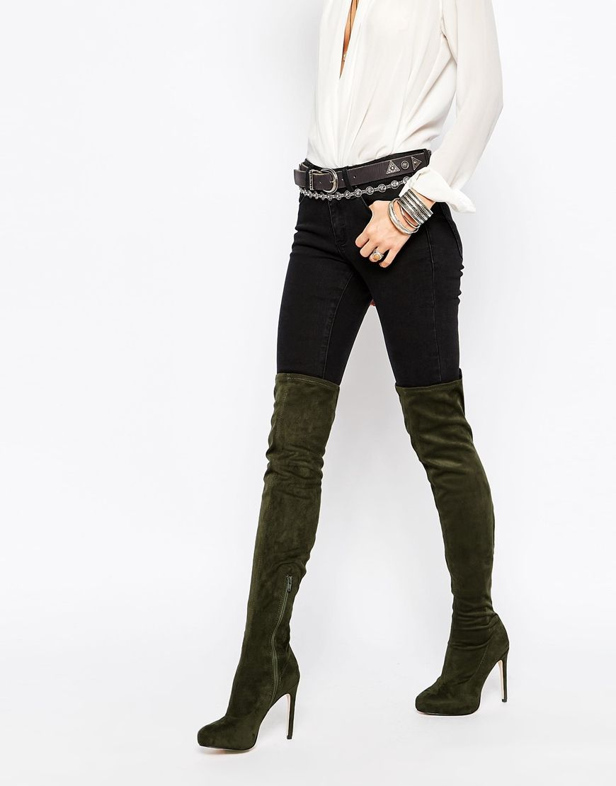 KILL JOY Platform Over The Knee Boots | ASOS, Toe and Textiles