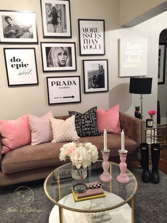 Makeup Glam Room Decorating Ideas Couch Pink Seating Area