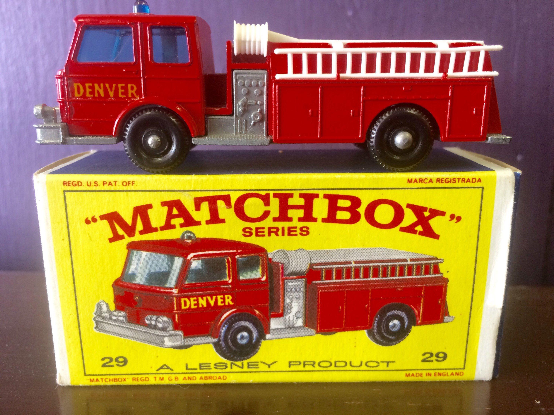 Lesney Matchbox New Model 29 Fire Pumper Truck With Box