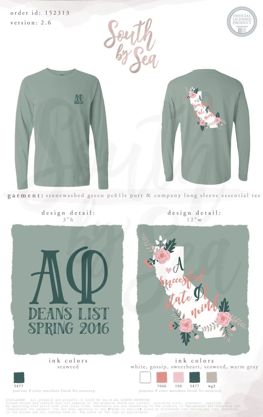 Alpha Phi | Dean\'s List | California Home State Design | Scholarship ...