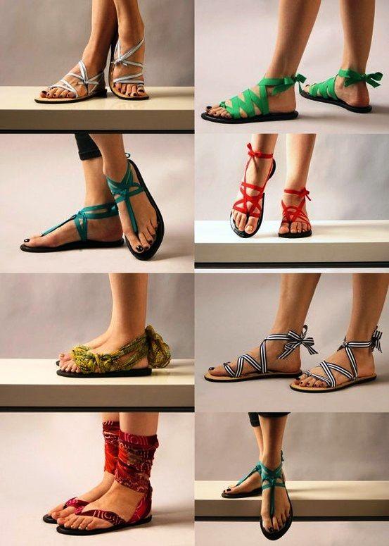 36dd36c1a DIY Sandals (Made from Cheap Flip Flops)