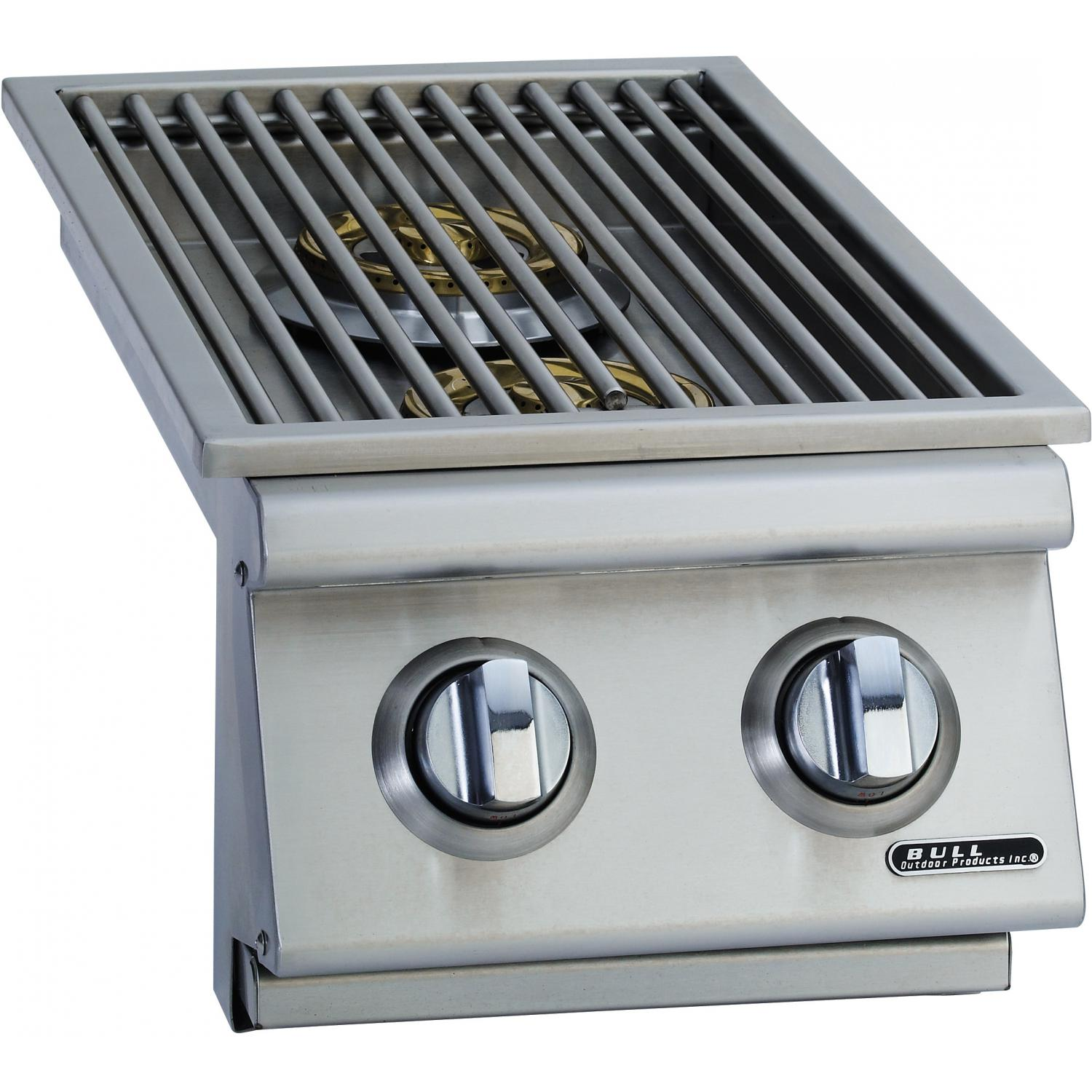 Bull Built In Propane Gas Double Side Burner W Stainless Steel Lid 30008 Bull Bbq Modular Outdoor Kitchens Outdoor Kitchen Design