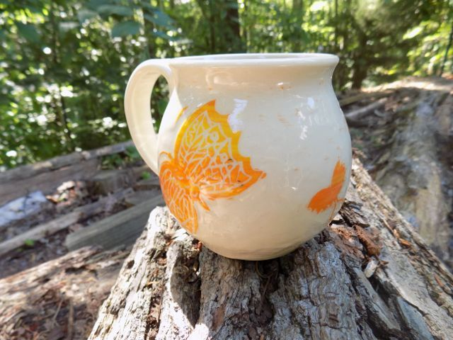 Drinking out of this would make me so happy. :: Butterfly mug from Winding Road Studio