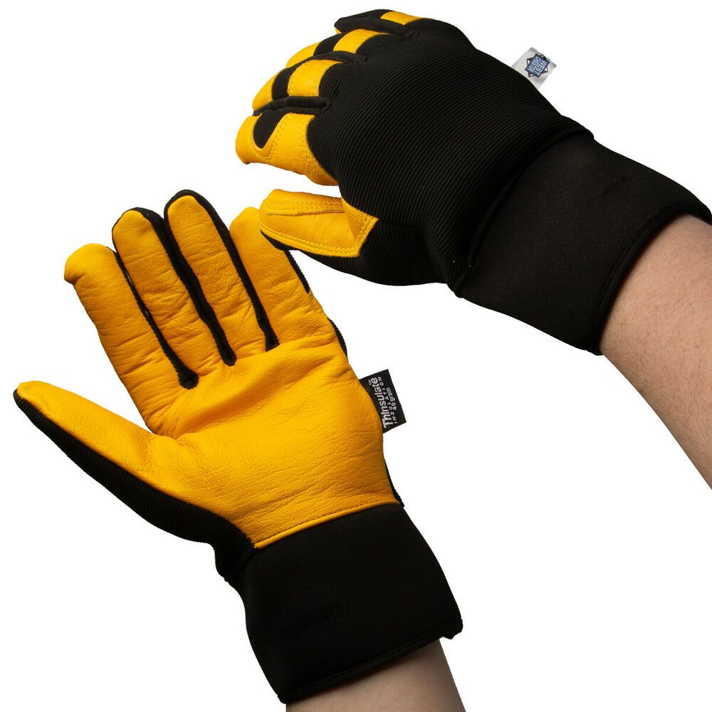 Ebay Advertisement Thinsulate Work Gloves Goatskin Leather Grip For Outdoor Cold Weather And Winter Work Gloves Gloves Cold Weather