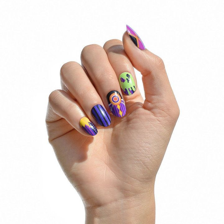 Evil Queen Nail Wraps: inspired by Snow White, featuring purple ...