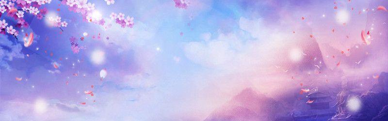 3d fairyland romantic romantic purple cartoon banner
