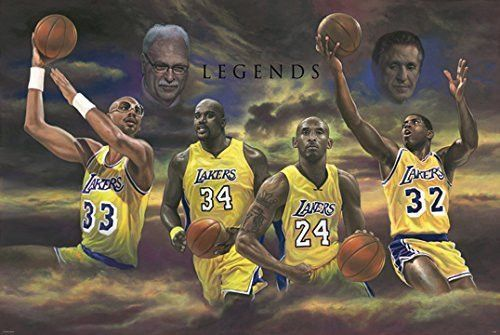 9a6b0c79eda LOS ANGELES LAKERS LEGENDS POSTER Kobe Bryant - Magic Johnson - Karim Abdul  jabbar RARE HOT NEW 24x36