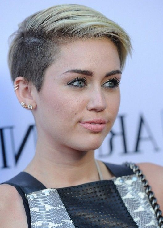 Miley Cyrus Short Straight Pixie Cut For Women Shortpixie