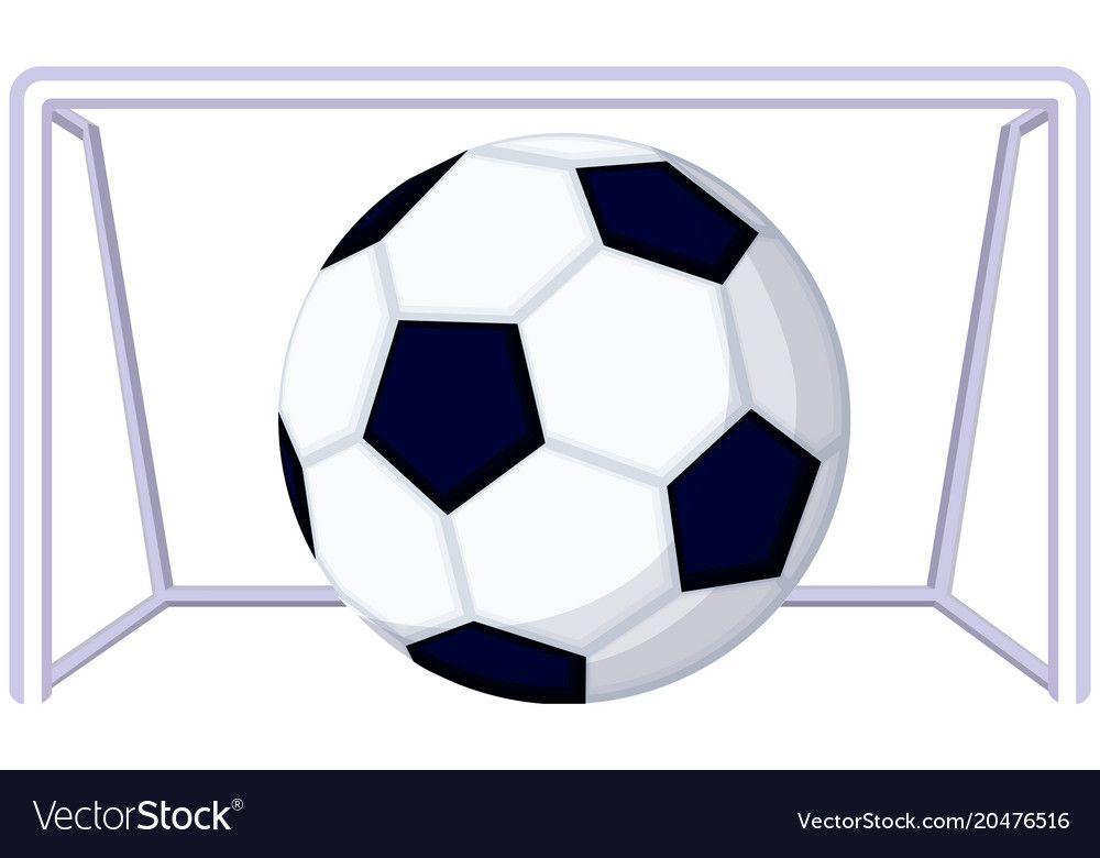 Cartoon Soccer Football Game Goal Icon Vector Image On Vectorstock Football Games Football Soccer