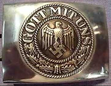 "Contrary to popular myth, Hitler was Catholic, not Atheist.  SS Belt Buckle; ""Gott mit uns"" (God With Us)"