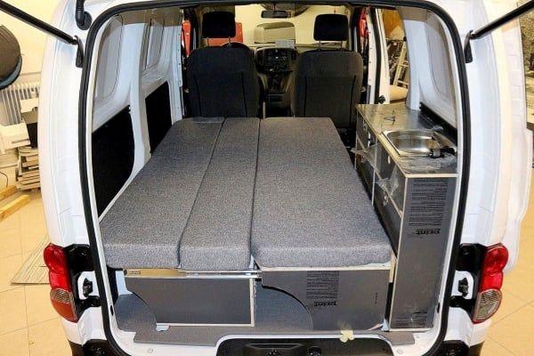 bett sofa f r nissan nv200 mini camper 10 29 00 3 camper pinterest caravane. Black Bedroom Furniture Sets. Home Design Ideas