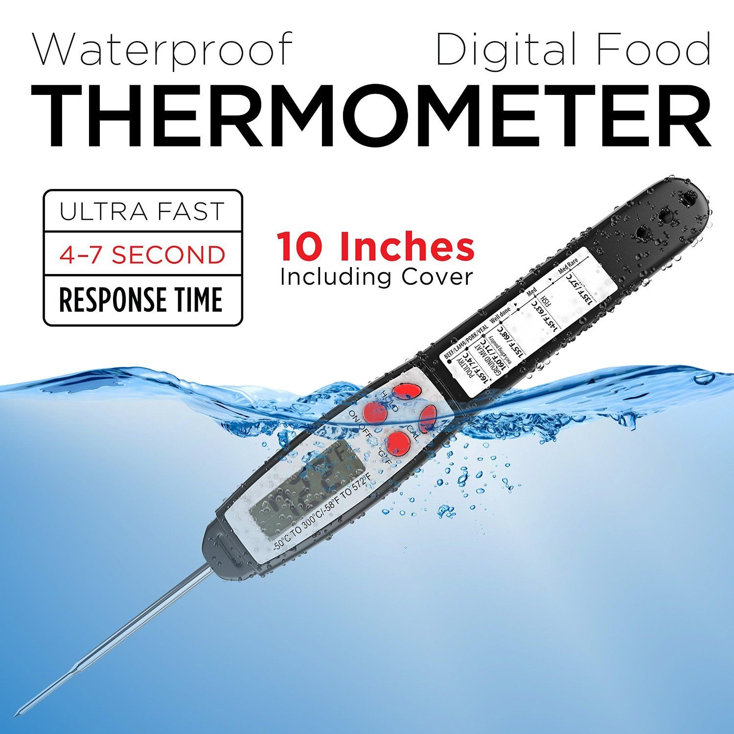 amazon com alpha grillers instant read food thermometer fully