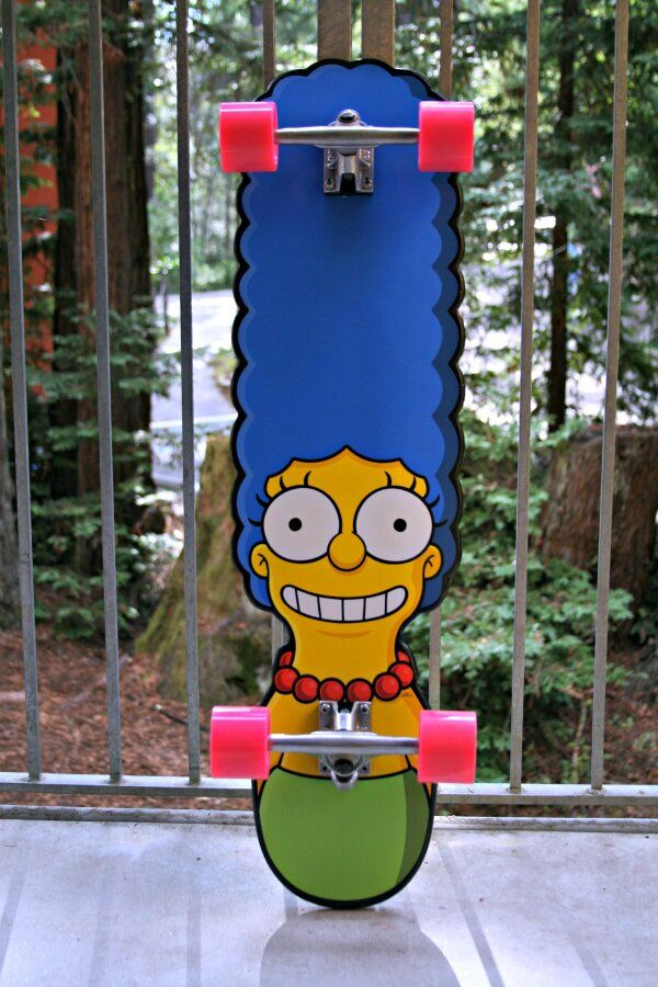 Bad A$$ Marge Simpson skate board