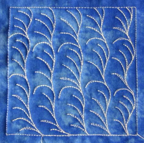 The Free Motion Quilting Project: Day 41 - Sea Algae