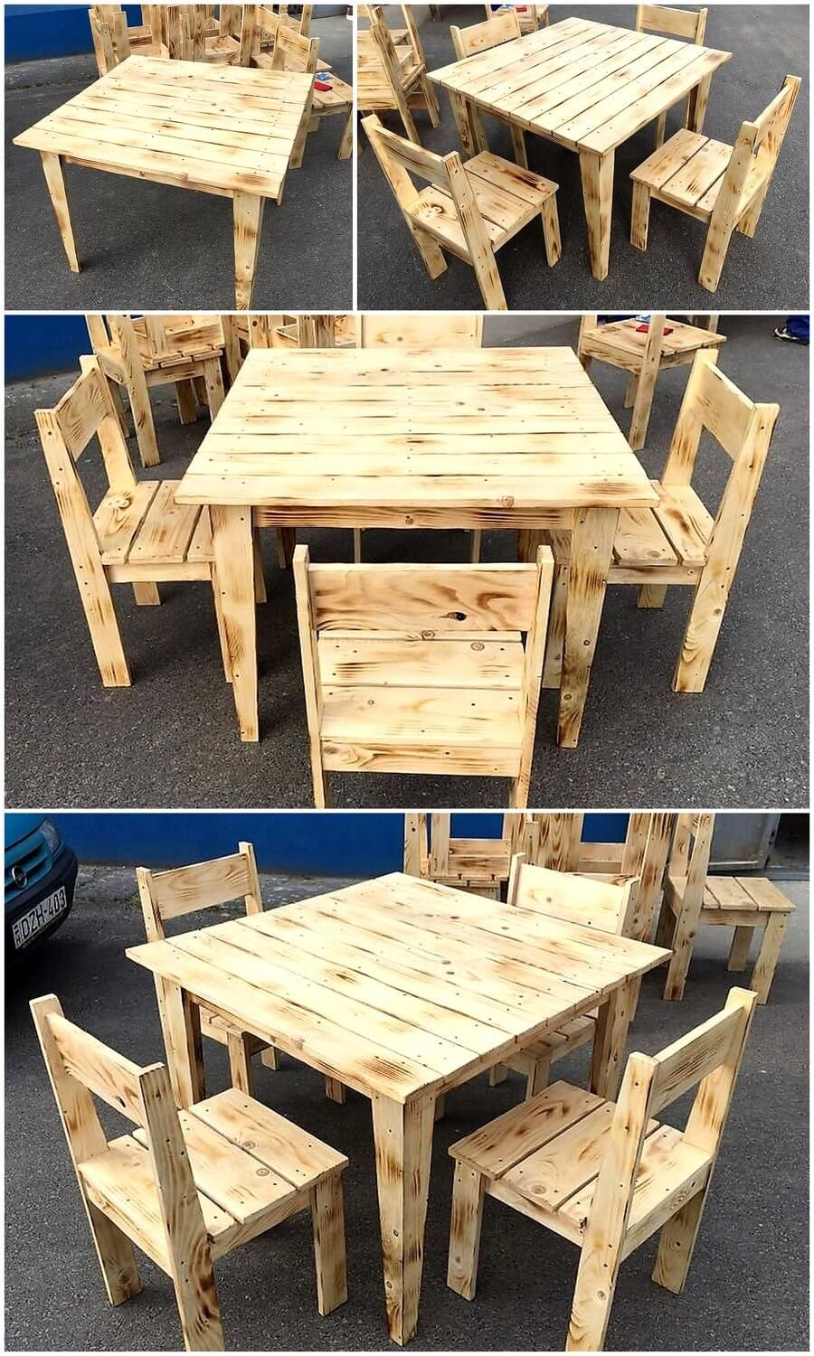 Simple Furniture Set Made With Pallets Wood Meubles En Bois De