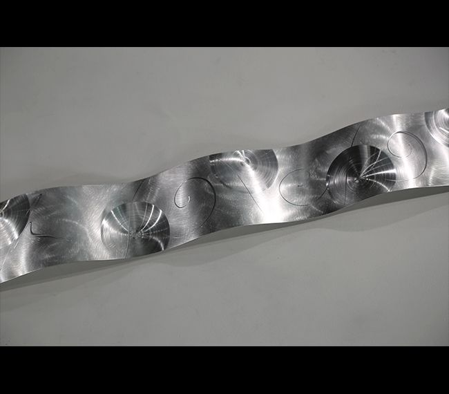 Silver Wave abstract metal art by Jon Allen (With images ...