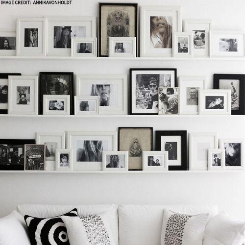photo frame inspiration bilderleiste ikea und fotowand. Black Bedroom Furniture Sets. Home Design Ideas