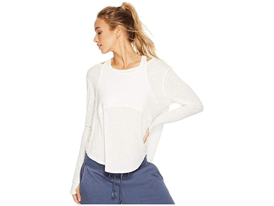 Free People Movement Zenith Tee White Womens T Shirt Exude effortless chic from the studio to the streets in the gorgeous Zenith Tee Easy fit is relaxed but not sloppy pe...