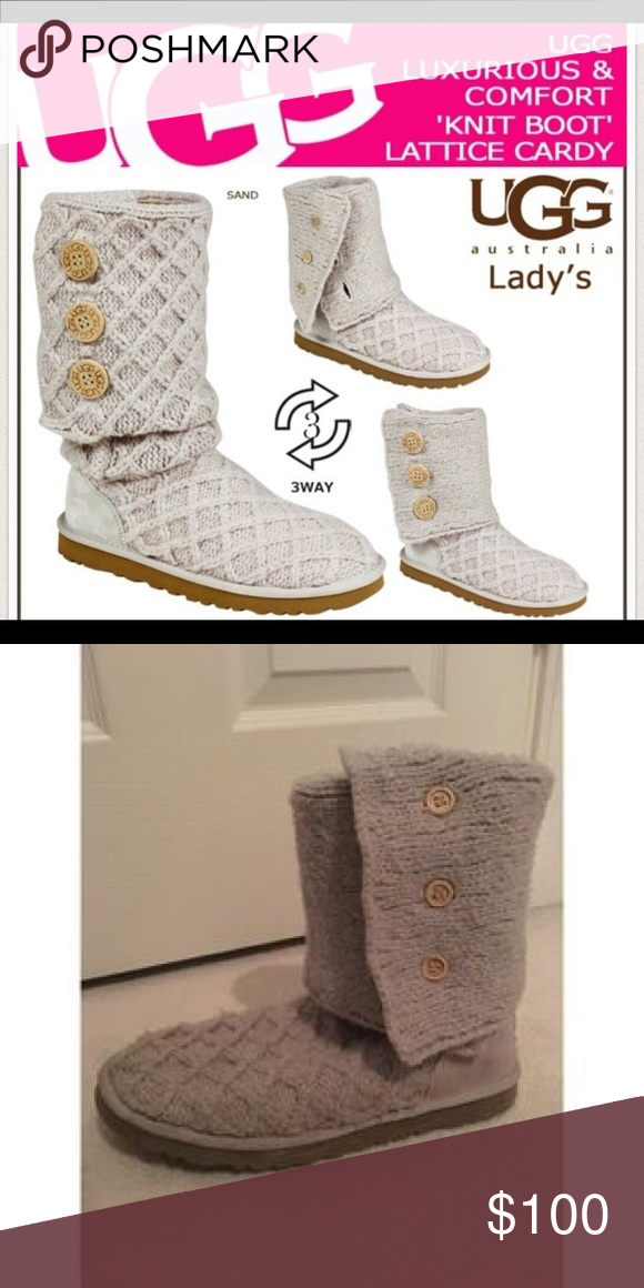 5f1b34875c8 Grey Knit UGG boots Good condition! Size 5 but fit like a 6/7 UGG ...