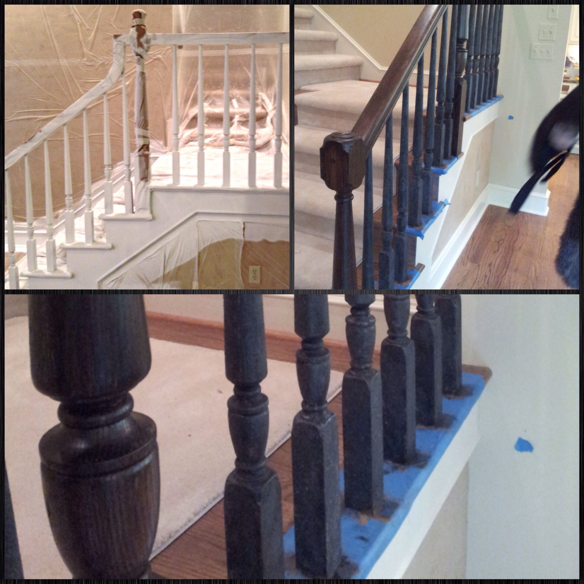 Faux Iron And Mahogany Stair Railing Stair Railing | Mahogany Handrails For Stairs