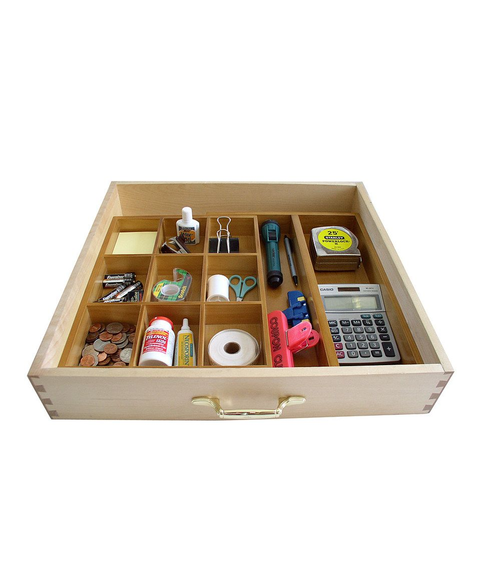 Natural Bamboo Expandable Junk Drawer Organizer By Axis Organizers