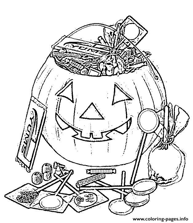 Candy In A Pumpkin Printable Candy Coloring Pages Monster Coloring Pages Halloween Coloring