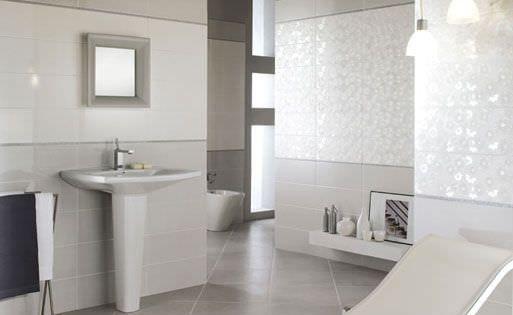 Sdb gris clair salle de bain Pinterest Searching - salle de bain carrelage gris et blanc