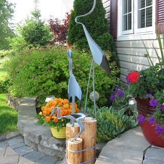 Making Yard Birds from PVC Pipe by audra
