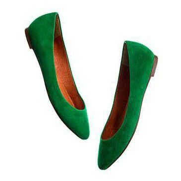 my h&m green flat shoes, only 9,99 euro!Amazing!