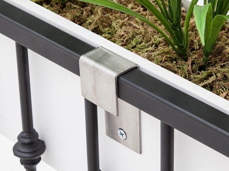 Stainless Steel Balcony Bracket Pairs Railing Planters Balcony Planters Window Box