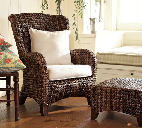 Seagrass Wingback Armchair (With images) | Wingback ...