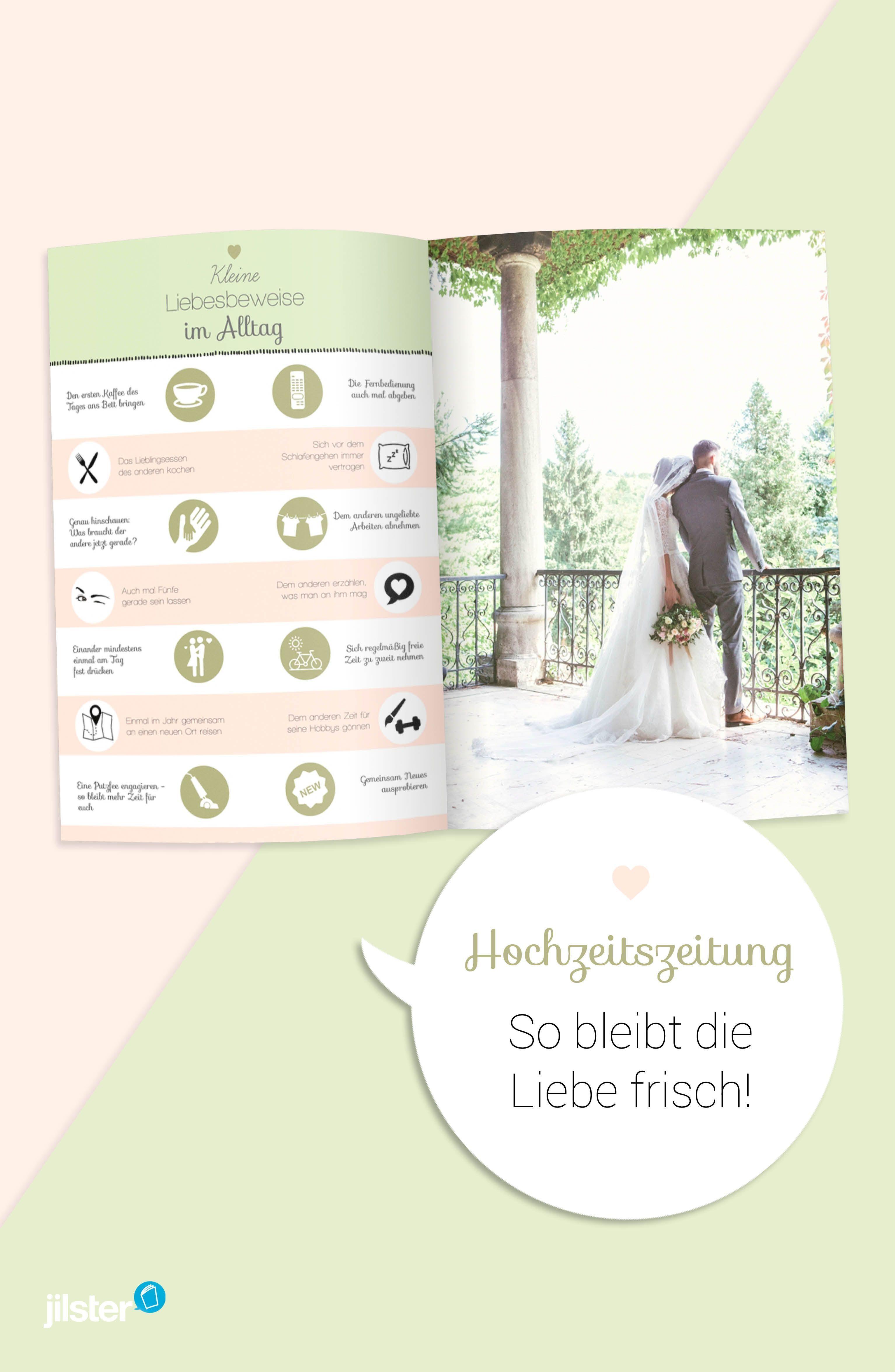 Hochzeitszeitung Tipps So Bleibt Die Liebe Frisch Jilster Blog Hochzeitszeitung Hochzeitszeitung Ideen Hochzeit