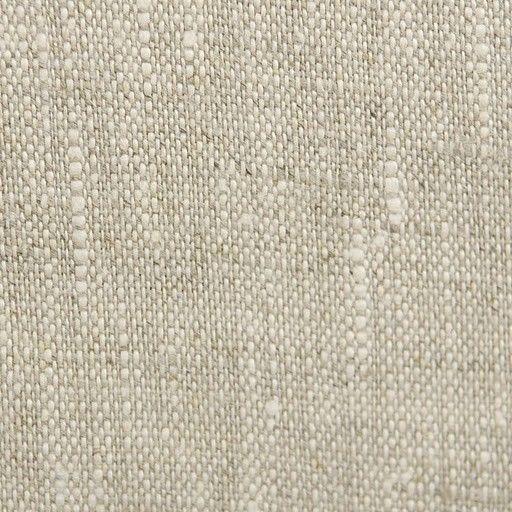 100% LINEN 16 USD Oatmeal Linen - Natural Fabric/ Soft - Natural Linen base with Oyster Linen Accent