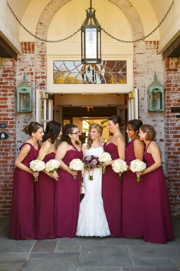 Wine Red Gold Elegant Fall Lawn Club Wedding Fall Wedding Ideas