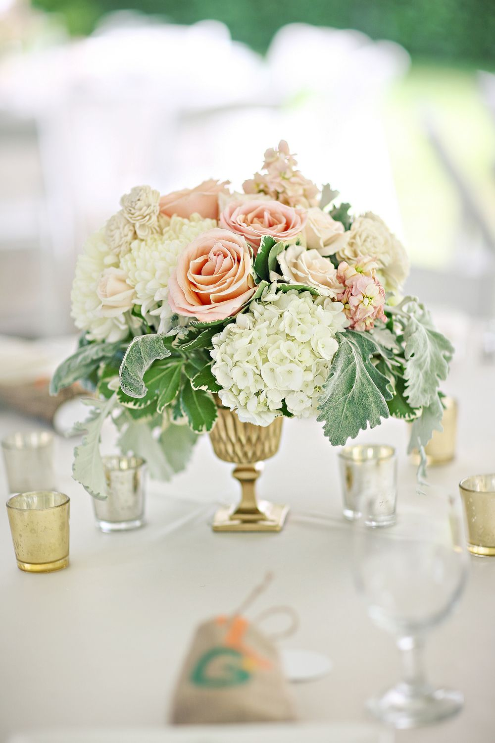 centerpieces | Gold vases, Bridal showers and Wedding