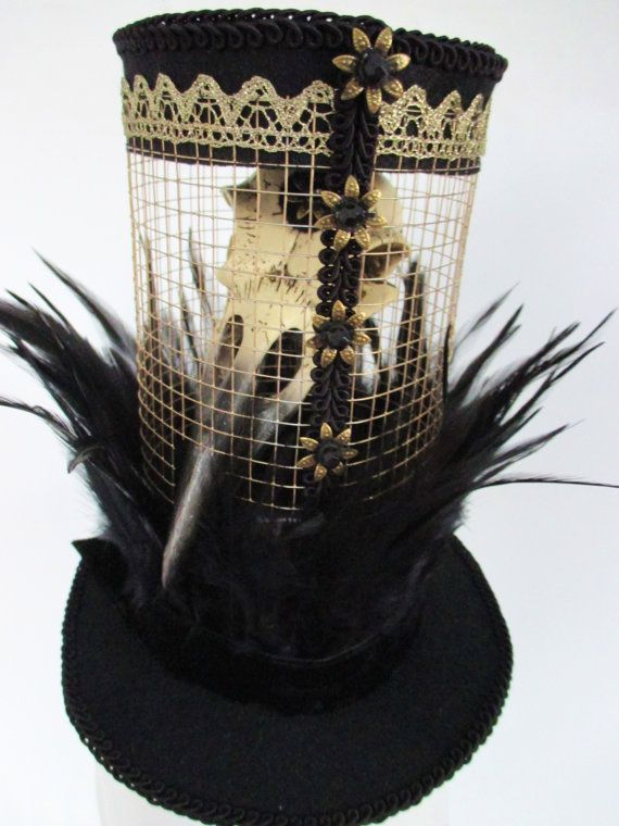 Raven Top Hat A Birdcage Mad Hatter Raven Feather Black Mini Top Hat