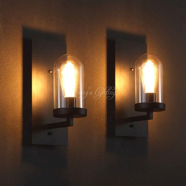 Nordic loft industri le woonkamer glas vorm hotel gangen for Wandlamp woonkamer