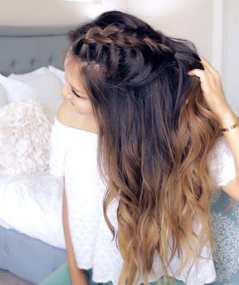 Diy Braided Hairstyles: Cute, DIY Mohawk Braid Hair Tutorial. How To Do A Romantic