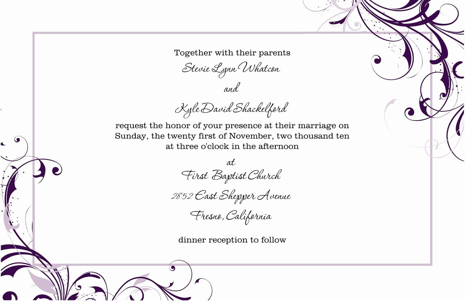 Party Invitation Template Microsoft Word Best Of Free Blank Wed