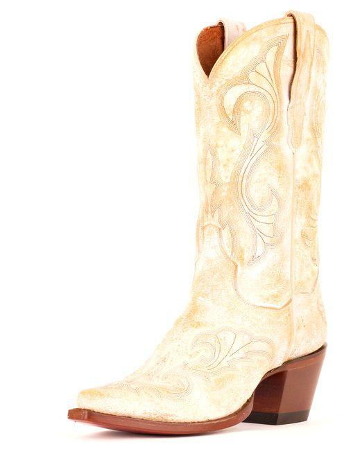 Dan Post Womens El Paso Boots - White