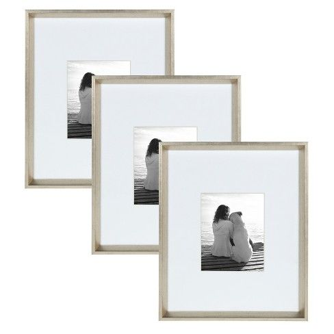 16 X20 Calter Wall Picture Frame Set Silver Kate Laurel All Things Decor Silver Picture Frames Picture Frame Sets Picture Frame Wall